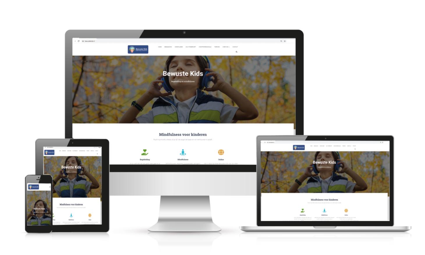 Communicatie website ontwikkeling Bewuste Kids