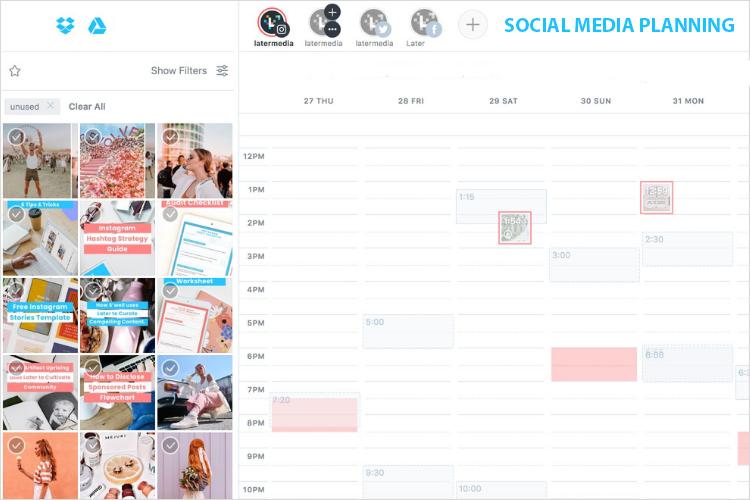 Communicatie social media contentkalender